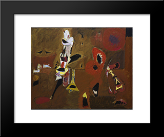 Agony:  Modern Black Framed Art Print by Arshile Gorky