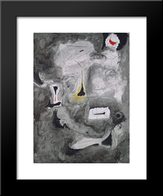 Charred Beloved Ii:  Modern Black Framed Art Print by Arshile Gorky