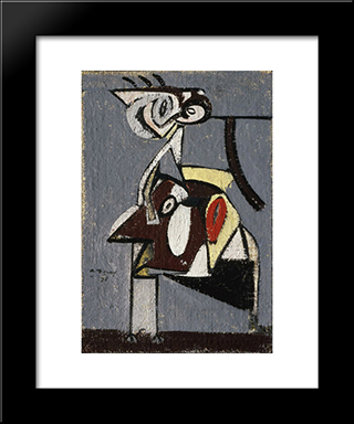Child Of An Idumean Night (Composition No. 4):  Modern Black Framed Art Print by Arshile Gorky