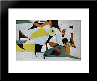 Composition:  Modern Black Framed Art Print by Arshile Gorky
