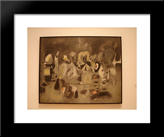 Diary Of A Seducer:  Modern Black Framed Art Print by Arshile Gorky