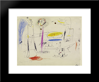 Fireplace In Virginia:  Modern Black Framed Art Print by Arshile Gorky
