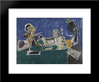 From A High Place Ii:  Modern Black Framed Art Print by Arshile Gorky