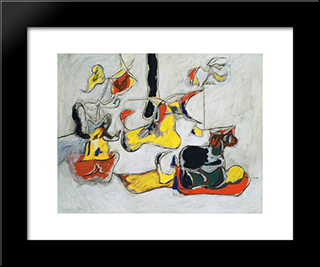 Garden In Sochi:  Modern Black Framed Art Print by Arshile Gorky