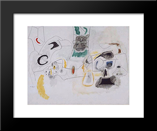Good Hope Road:  Modern Black Framed Art Print by Arshile Gorky