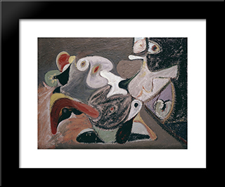 Image In Khorkom:  Modern Black Framed Art Print by Arshile Gorky