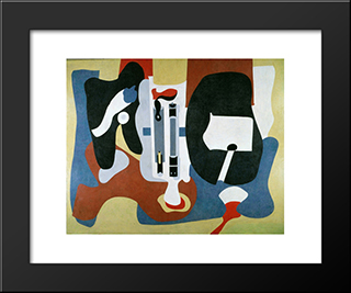 Mechanics Of Flying:  Modern Black Framed Art Print by Arshile Gorky