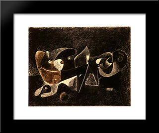 Night-Time, Enigma, And Nostalgia:  Modern Black Framed Art Print by Arshile Gorky