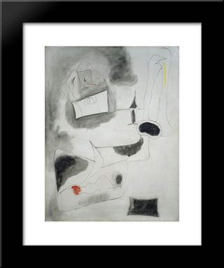 Nude:  Modern Black Framed Art Print by Arshile Gorky