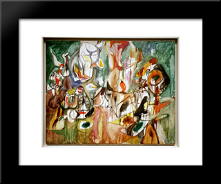 One Year The Milkweed:  Modern Black Framed Art Print by Arshile Gorky