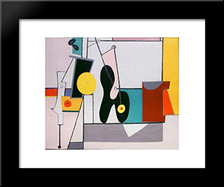 Organization:  Modern Black Framed Art Print by Arshile Gorky
