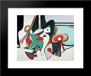 Painting:  Modern Black Framed Art Print by Arshile Gorky