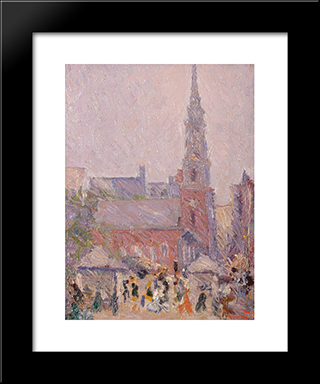 Park Street Church:  Modern Black Framed Art Print by Arshile Gorky