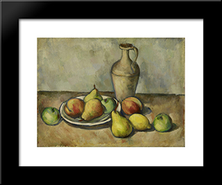 Pears, Peaches, And Pitcher:  Modern Black Framed Art Print by Arshile Gorky
