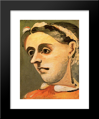 Portrait Of Akabi:  Modern Black Framed Art Print by Arshile Gorky