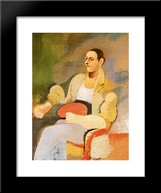Portrait Of Master Bill:  Modern Black Framed Art Print by Arshile Gorky