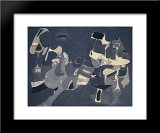 Soft Night:  Modern Black Framed Art Print by Arshile Gorky
