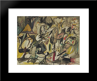 The Leaf Of The Artichoke Is An Owl : Custom Black Wood Framed Art Print by Arshile Gorky