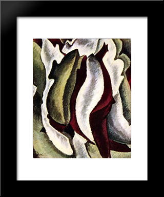 Based On Leaf Forms And Spaces:  Modern Black Framed Art Print by Arthur Dove