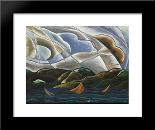 Clouds And Water:  Modern Black Framed Art Print by Arthur Dove