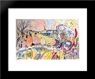 Untitled Landscape, Bellport (No.0001):  Modern Black Framed Art Print by Arthur Pinajian