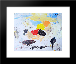 Untitled Landscape, Bellport (No.1042):  Modern Black Framed Art Print by Arthur Pinajian