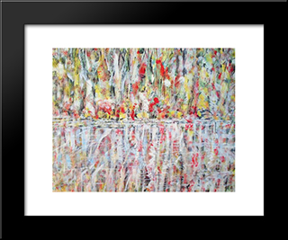 Untitled Landscape, Bellport (No.1137):  Modern Black Framed Art Print by Arthur Pinajian