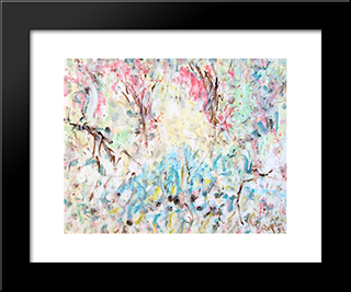 Untitled Landscape, Bellport (No.1168):  Modern Black Framed Art Print by Arthur Pinajian