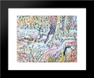 Untitled Landscape, Bellport (No.224):  Modern Black Framed Art Print by Arthur Pinajian
