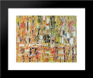 Untitled Landscape, Bellport (No.243):  Modern Black Framed Art Print by Arthur Pinajian