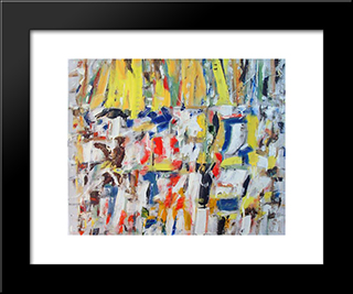 Untitled Landscape, Bellport (No.256):  Modern Black Framed Art Print by Arthur Pinajian