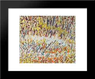 Untitled Landscape, Bellport (No.257):  Modern Black Framed Art Print by Arthur Pinajian