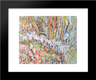 Untitled Landscape, Bellport (No.347):  Modern Black Framed Art Print by Arthur Pinajian