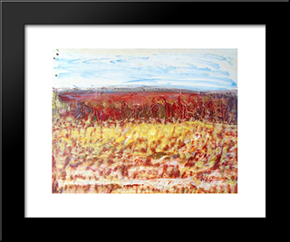 Untitled Landscape, Bellport (No.942):  Modern Black Framed Art Print by Arthur Pinajian