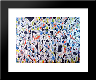 Untitled Landscape, Woodstock (No.3876):  Modern Black Framed Art Print by Arthur Pinajian