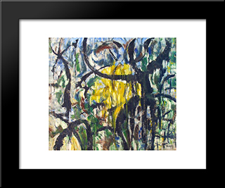 Untitled Landscape, Woodstock (No.414):  Modern Black Framed Art Print by Arthur Pinajian