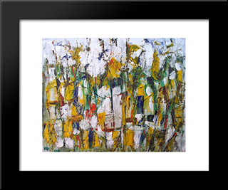 Untitled Landscape, Woodstock (No.42):  Modern Black Framed Art Print by Arthur Pinajian