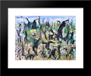 Untitled Landscape, Woodstock (No.D153):  Modern Black Framed Art Print by Arthur Pinajian