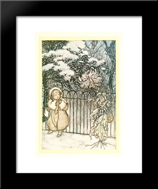 A Chrysanthemum Heard Her, And Said Pointedly, 'Hoity-Toity, What Is This':  Modern Black Framed Art Print by Arthur Rackham
