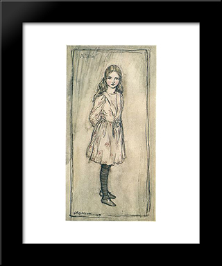 Alice:  Modern Black Framed Art Print by Arthur Rackham