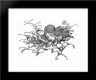 And Now Which Is Which:  Modern Black Framed Art Print by Arthur Rackham