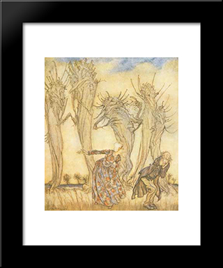 And That Is The Story Of Mr. And Mrs. Vinegar:  Modern Black Framed Art Print by Arthur Rackham