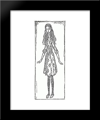 Curiouser And Curiouser:  Modern Black Framed Art Print by Arthur Rackham