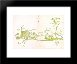 Endpapers:  Modern Black Framed Art Print by Arthur Rackham