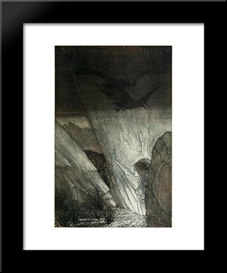 Erda Bids Thee Beware:  Modern Black Framed Art Print by Arthur Rackham