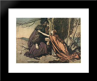Father! Father!:  Modern Black Framed Art Print by Arthur Rackham