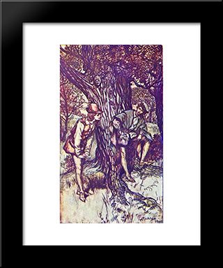 Ganymede Assumed The Forward Manners Often Seen In Youths When They Are Between Boys And Men:  Modern Black Framed Art Print by Arthur Rackham