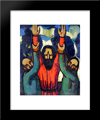 Eliyahu:  Modern Black Framed Art Print by Arthur Segal