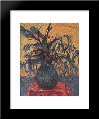 Flori De Salcie:  Modern Black Framed Art Print by Arthur Segal