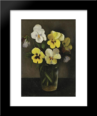 Flowers:  Modern Black Framed Art Print by Arthur Segal